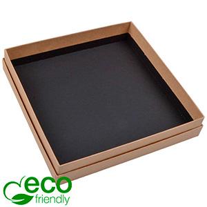 Boston ECO sieradendoosje voor collier / choker Mat naturel FSC®-gecertificeerd karton/Zonder foam 167 x 167 x 32