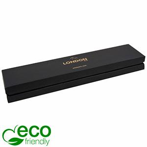 London ECO aflang smykkeæske til armbånd Sort soft-touch karton/Sort mellemstykke/Sort skum 220 x 50 x 25 (212 x 43 x 22 mm)