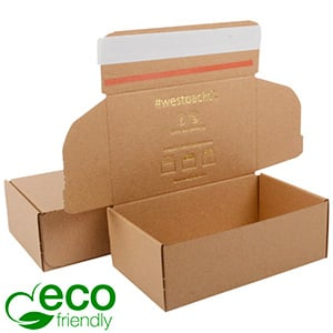 ECO Postal Box, 111x188x64 mm Plain Brown Cardboard w/adhesive strips 188 x 111 x 64 (170 x 105 x 60 mm)  398 gsm