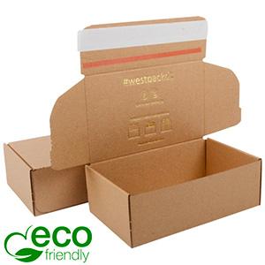 ECO Postdoosje, 188x111x64 mm Naturel karton met tapesluiting 188 x 111 x 64 (170 x 105 x 60 mm)  398 gsm