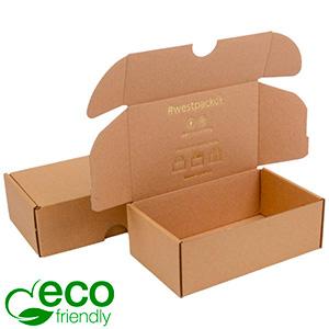 ECO Postdoosje, 185x109x62mm Naturel karton 185 x 109 x 62 (166 x 102 x 60 mm)  398 gsm