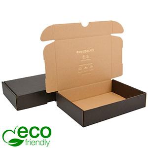 ECO Postdoosje, 245x175x52mm Zwart / Naturel karton 245 x 175 x 52 (227 x 165 x 50 mm)  398 gsm