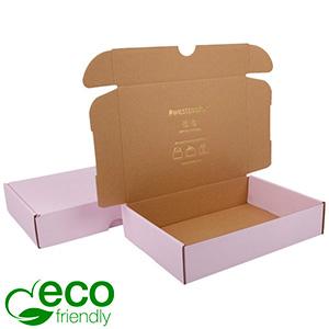 Karton fasonowy ECO, 245x175x52mm Różowy / Brązowy karton 245 x 175 x 52 (227 x 165 x 50 mm)  398 gsm