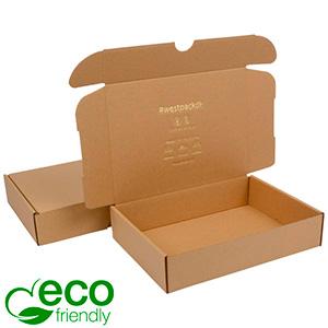 ECO Postal Box, 175x245x52 mm Plain Brown Cardboard 245 x 175 x 52 (227 x 165 x 50 mm)  398 gsm