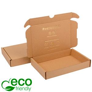 ECO Postal Box, 118x177x29 mm Plain Brown Cardboard 177 x 118 x 29 (165 x 114 x 26 mm)  398 gsm