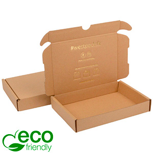 ECO Postdoosje Briefpost, 177x118x29mm Naturel karton 177 x 118 x 29 (165 x 114 x 26 mm)  398 gsm