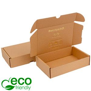 ECO Postal Box, 116x183x44 mm Plain Brown Cardboard 183 x 116 x 44 (168 x 111 x 41 mm)  398 gsm