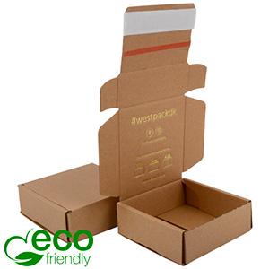 ECO Postal Box Large Letter, 120x120x45 mm Plain Brown Cardboard w/adhesive strips 120 x 120 x 45 (105 x 114 x 34 mm)  398 gsm