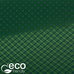 Eco-friendly Wrapping Paper nº 1665 ECO Dark green paper with graphical print  20 cm - 100 m - 80 g