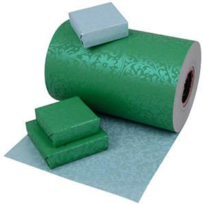Papier cadeau nº 4565: Vert d'eau/Argent bilatéral