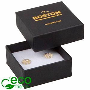 Bulk buy -  Boston Eco box for earrings / charms Black cardboard / White foam 50 x 50 x 22
