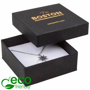 Bulk buy -  Boston Eco box for pendant / brooch Black cardboard / White foam 65 x 65 x 25