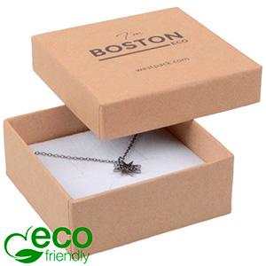 Bulk buy -  Boston Eco box for pendant / brooch Natural cardboard / White foam 65 x 65 x 25