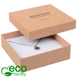 Achat en gros: Boston Eco écrin bracelet/pendentif Carton naturel / Intérieur mousse blanche 86 x 86 x 26