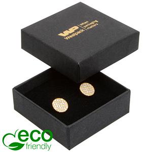 Bulk buy -  Frankfurt Eco box for ring Black cardboard / Black foam 50 x 50 x 17