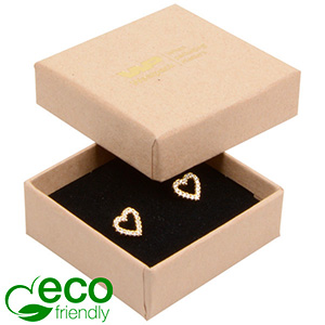 Grootverpakking -  Frankfurt Eco doosje voor ring Naturel karton / Zwart foam 50 x 50 x 17