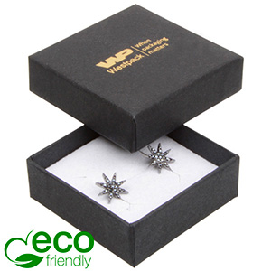 Bulk buy -  Frankfurt Eco box for ring Black cardboard / White foam 50 x 50 x 17