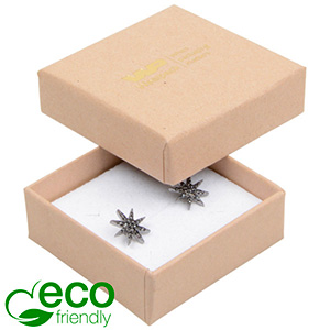 Bulk buy -  Frankfurt Eco box for ring Natural cardboard / White foam 50 x 50 x 17