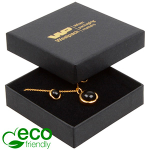 Bulk buy -  Frankfurt Eco box for earrings/pendant Black cardboard / Black foam 65 x 65 x 17