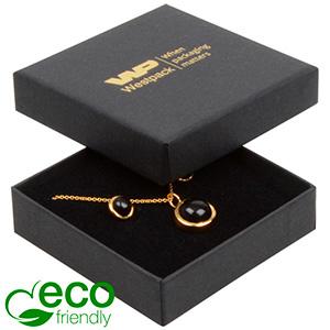 Bulk buy -  Frankfurt Eco box for earrings/pendant Black cardboard / Black foam 65 x 65 x 17