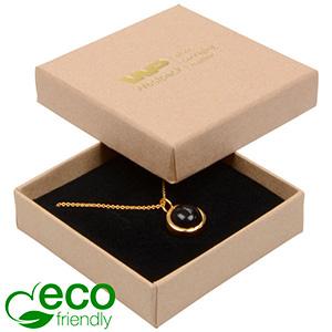 Storköp -Frankfurt Eco smyckesask halskjeda/hänge Matt natur kartong/ Svart skuminsats 65 x 65 x 17