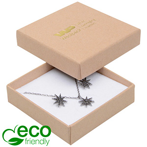Storköp -Frankfurt Eco smyckesask halskjeda/hänge Matt natur kartong/ Vit skuminsats 65 x 65 x 17