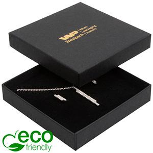 Storköp -Frankfurt Eco smyckesask hänge/armband Svart kartong / Svart skuminsats 86 x 86 x 17