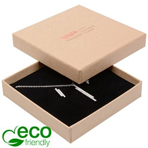 Bulk buy -  Frankfurt Eco box for pendant/ bangle Natural cardboard / Black foam 86 x 86 x 17