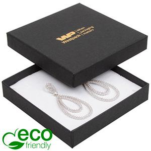 Storköp -Frankfurt Eco smyckesask hänge/armband Matt svart kartong / Vit skuminsats 86 x 86 x 17