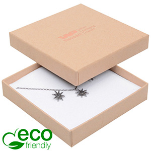 Bulk buy -  Frankfurt Eco box for pendant/ bangle Natural cardboard / White foam 86 x 86 x 17