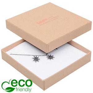 Storköp -Frankfurt Eco smyckesask hänge/armband Matt natur kartong/ Vit skuminsats 86 x 86 x 17