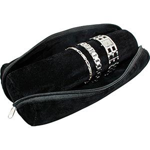 Sacs pour rouleaux de présentations de bijoux, G.M Velours noir